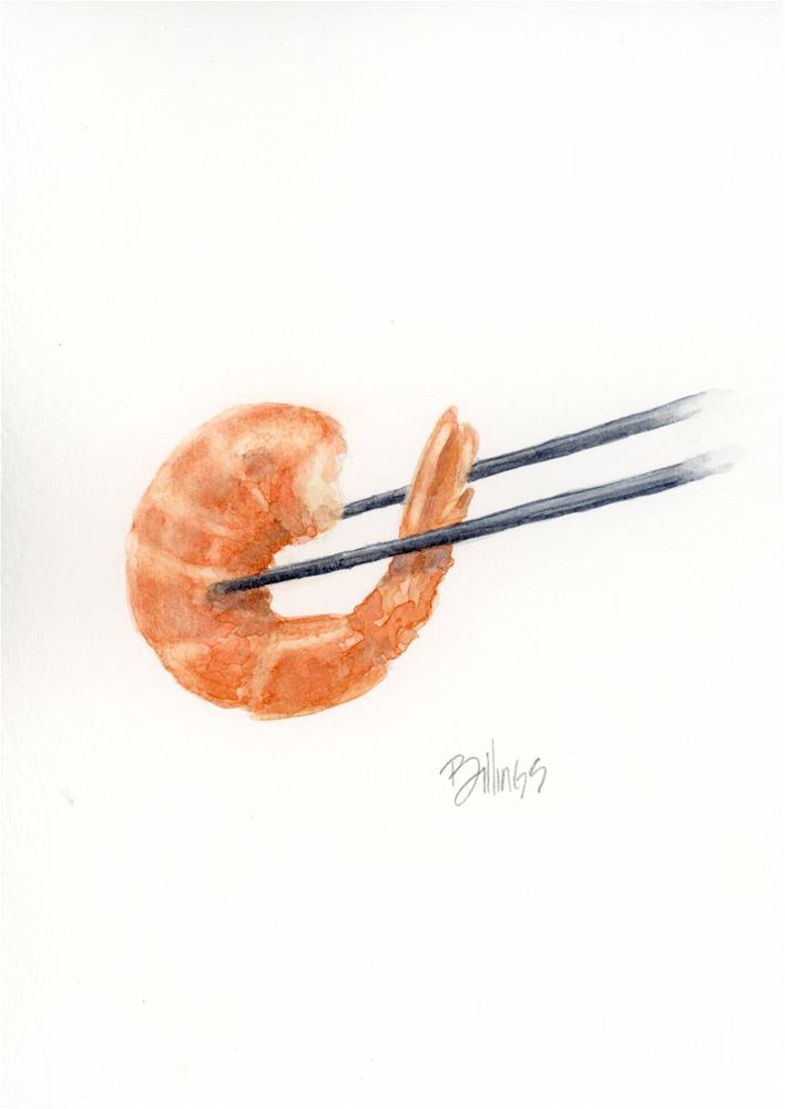 """Chopstick Lesson II"" original fine art by Susanne Billings"