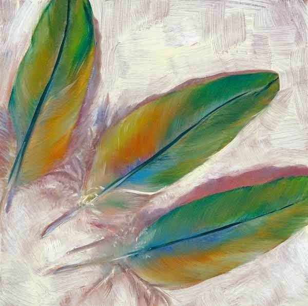 """A Thing for Feathers"" original fine art by Brenda Ferguson"