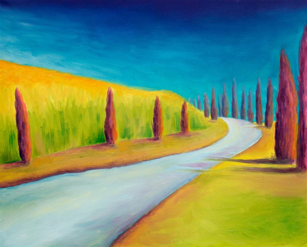 """Mystic Cypress"" original fine art by Susan Bertocci"