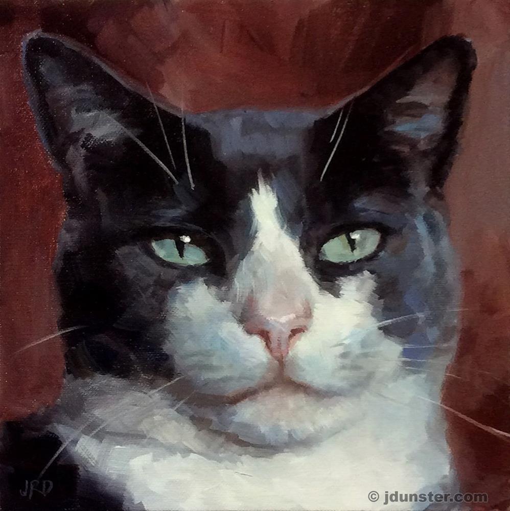 """Smug Cat"" original fine art by J. Dunster"