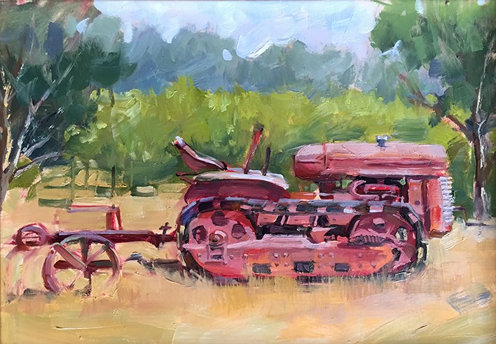 """Out to Pasture"" original fine art by Deborah Newman"