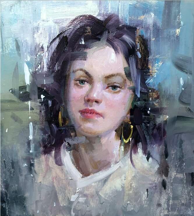 """Sophie"" original fine art by Mostafa Keyhani"