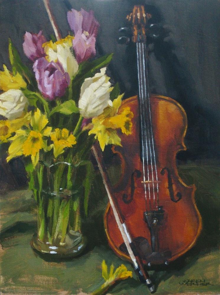 """""""Spring Music"""" original fine art by Karen Werner"""