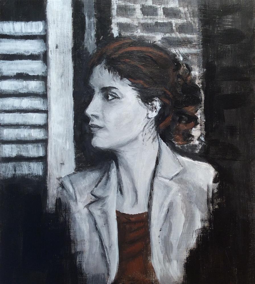 """""""Waiting"""" original fine art by wendy black"""