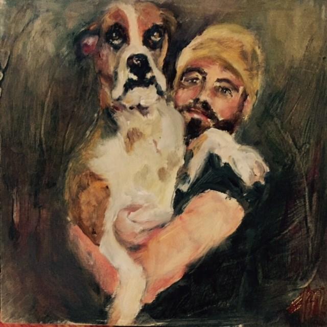 """Dog Days"" original fine art by Michelle Linnihan"