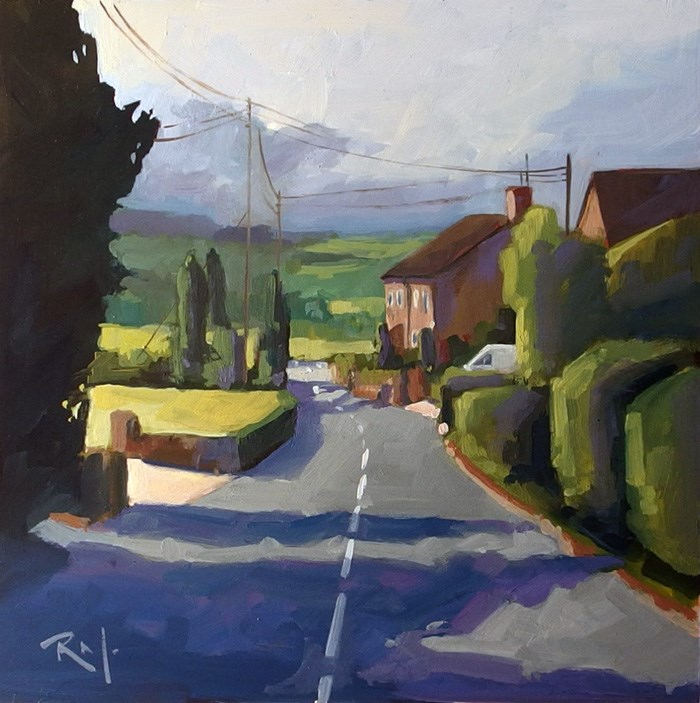 """No 716 Twist in the Road"" original fine art by Robin J Mitchell"