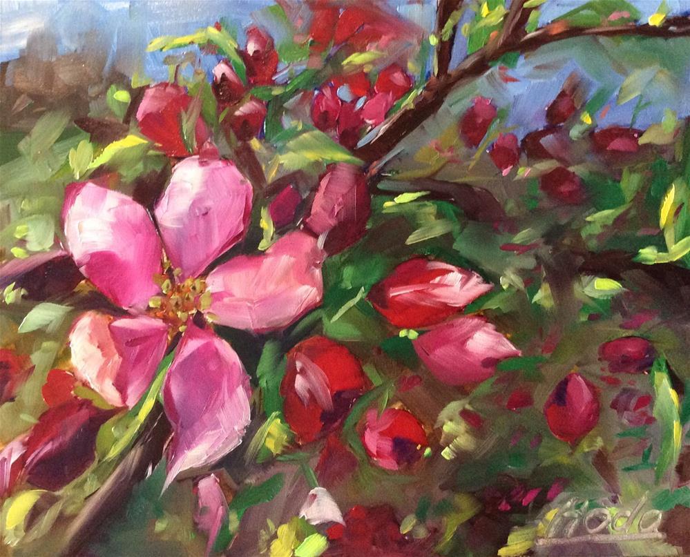 """""""Blossoms"""" original fine art by Hoda Nicholas"""
