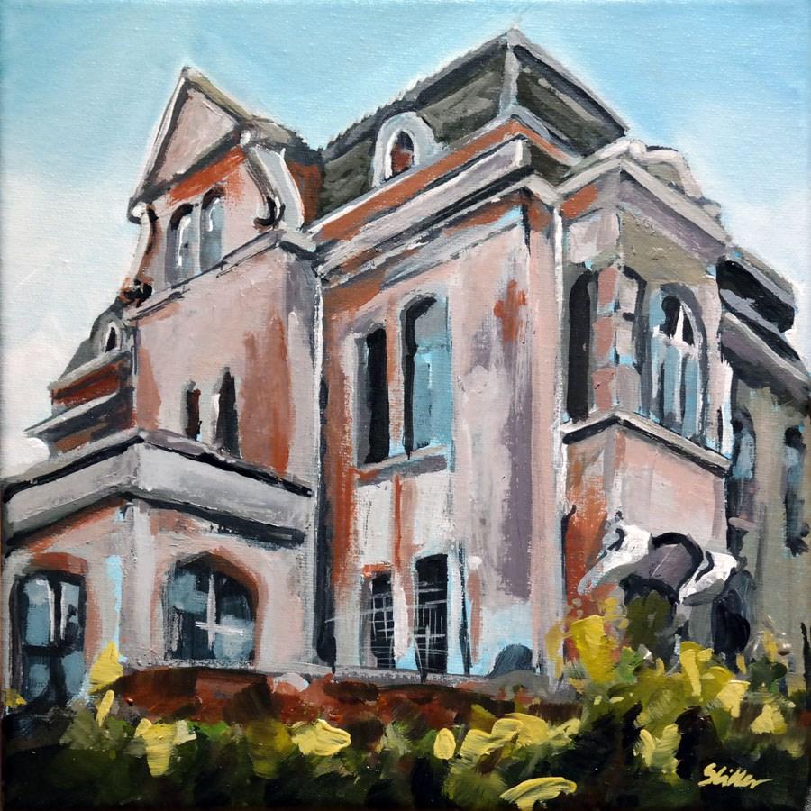 """1488 Factory Owner's Villa"" original fine art by Dietmar Stiller"