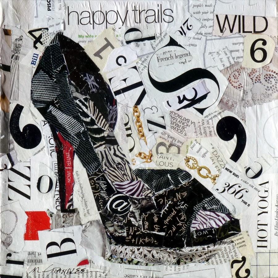 """""""Wild, Happy Trails 13072"""" original fine art by Nancy Standlee"""