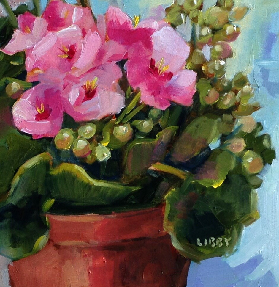"""""""Pink G"""" original fine art by Libby Anderson"""