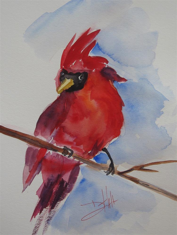 """Northern Cardinal"" original fine art by Delilah Smith"