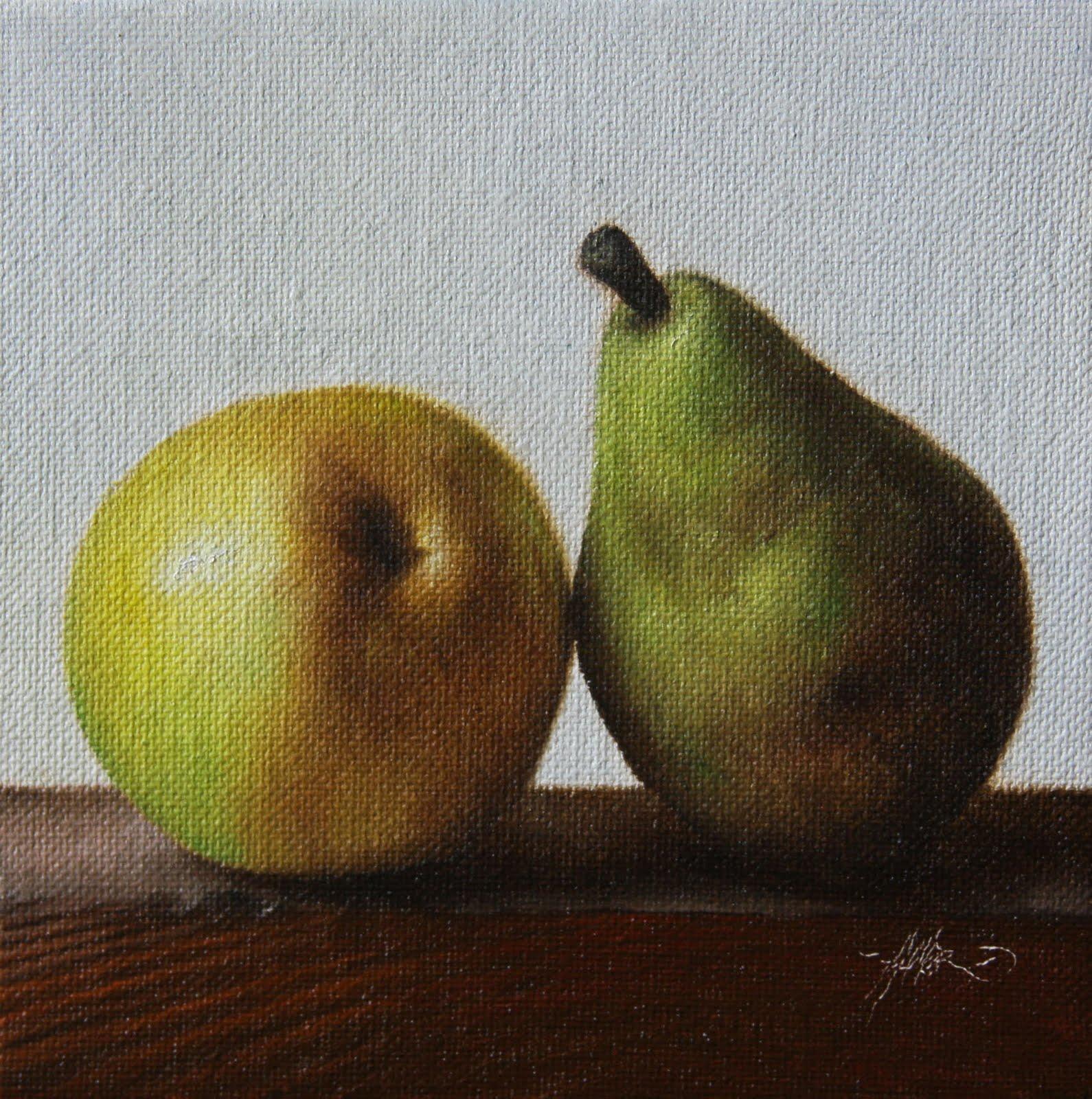 """""""'Reversed Pear"""" original fine art by Jonathan Aller"""