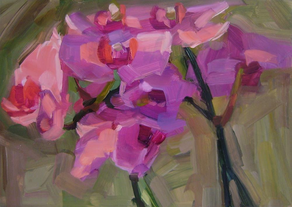 """Orchid 3"" original fine art by Holly Storlie"