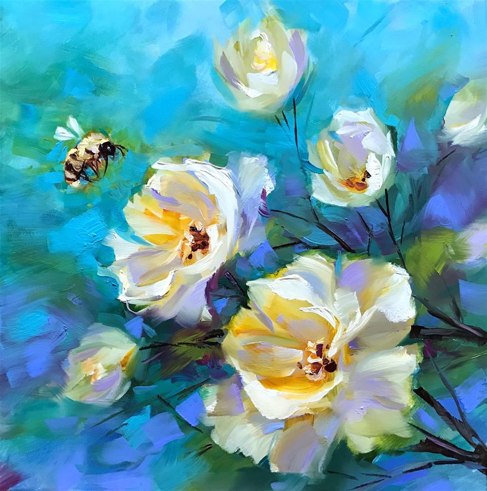 """Bee Mine"" original fine art by Nancy Medina"