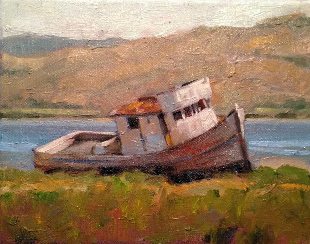"""Old Point Reyes"" original fine art by Deborah Newman"