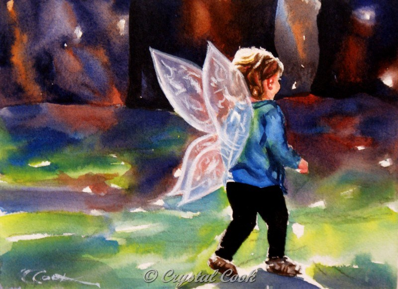 """Believe"" original fine art by Crystal Cook"
