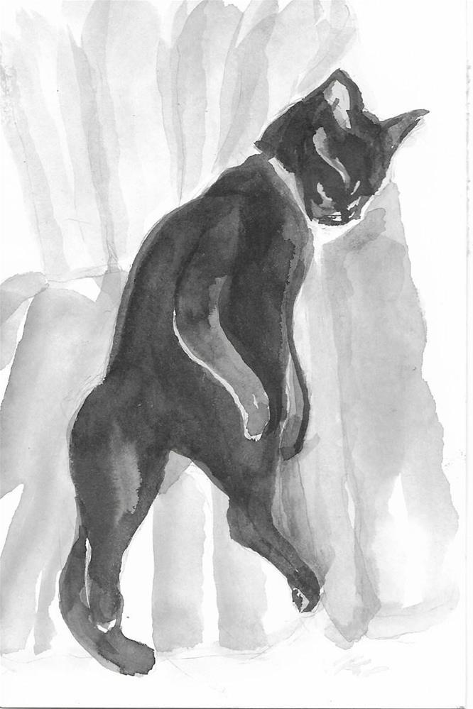 """Daily Cat 29"" original fine art by Jean Krueger"