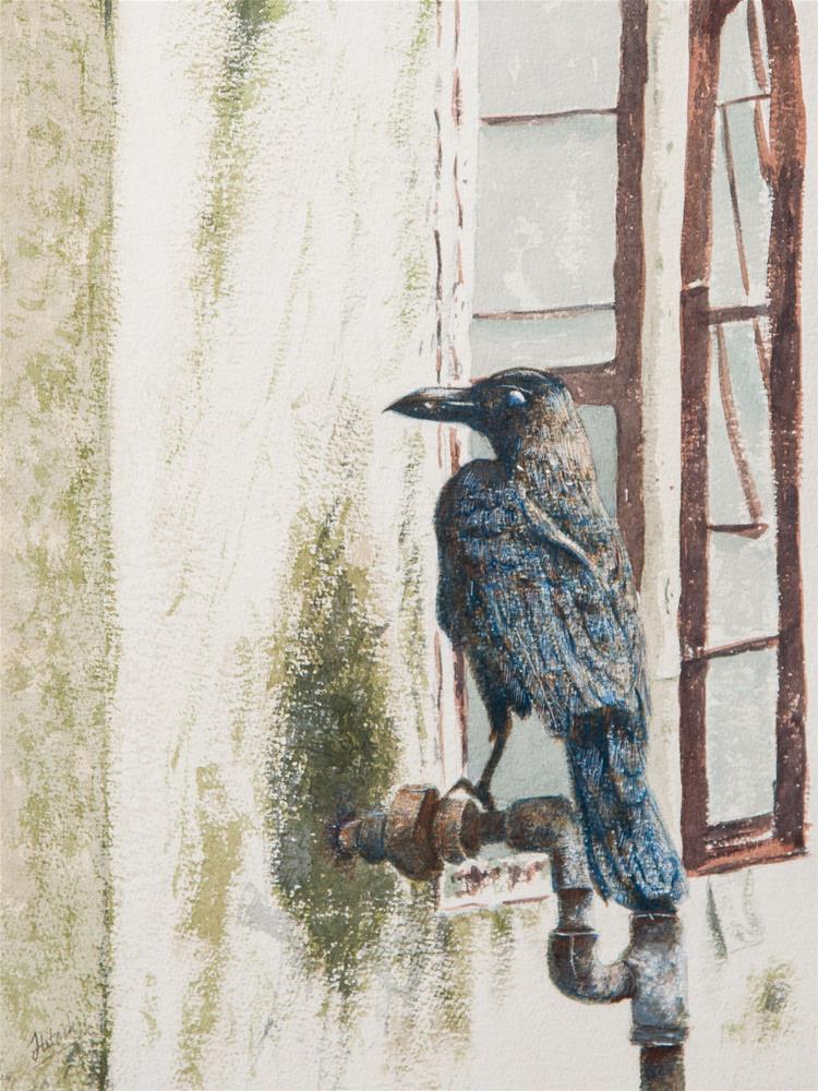 """Angry Bird"" original fine art by Tesh Parekh"