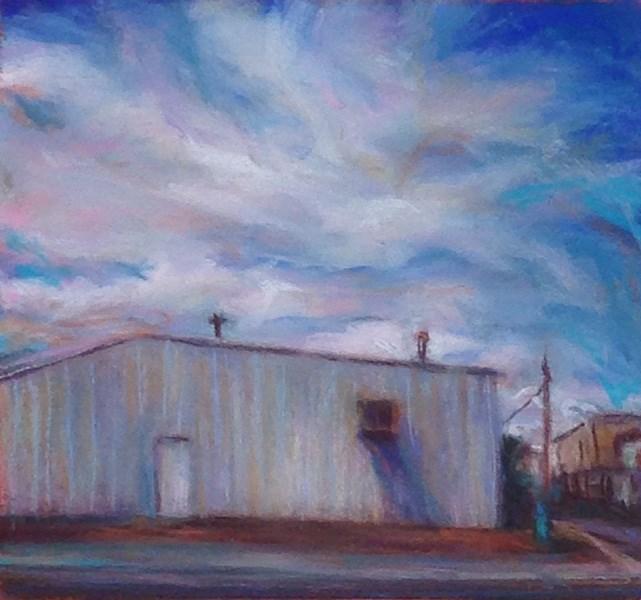 """PINWHEELS OF CLOUDS - 6 x 6 landscape pastel by Susan Roden"" original fine art by Susan Roden"