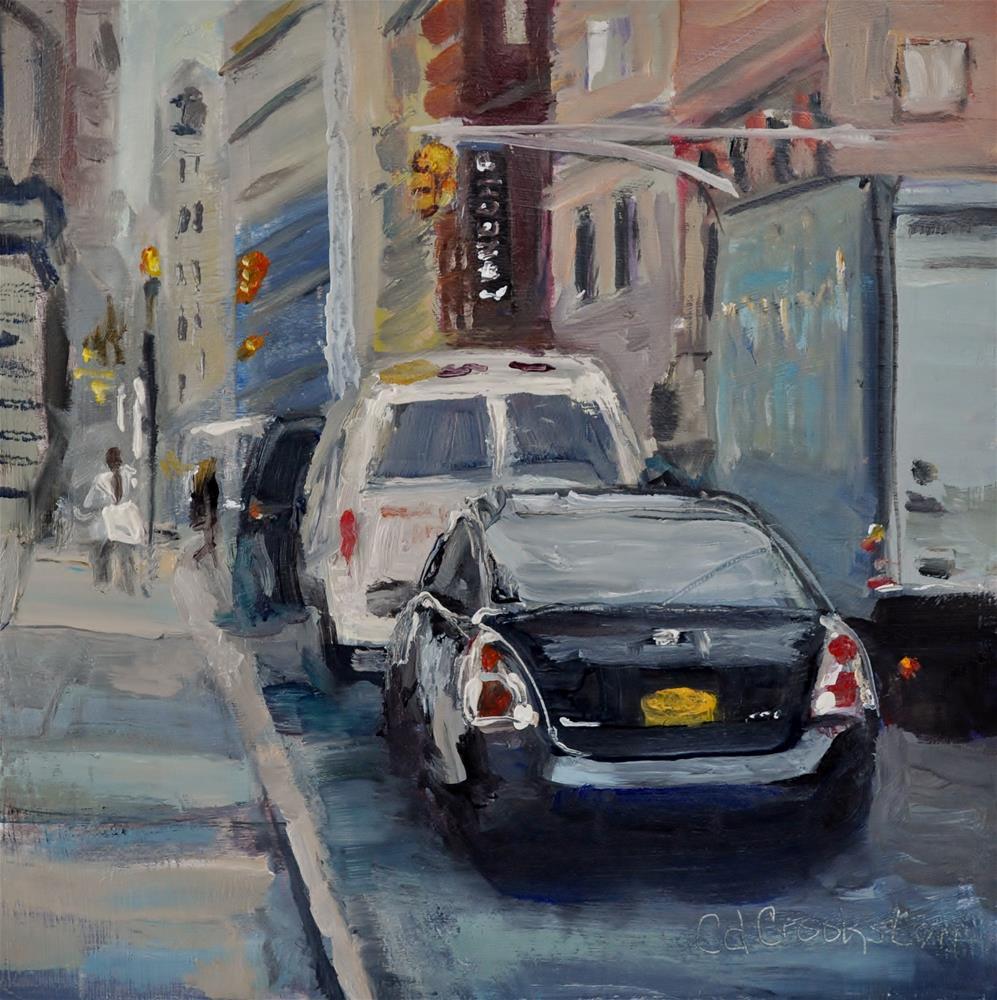 """NY Busy City Challenge"" original fine art by Catherine Crookston"