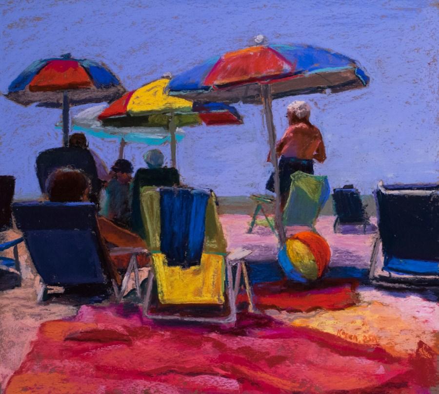 """""""Primary Shades"""" original fine art by karen israel"""