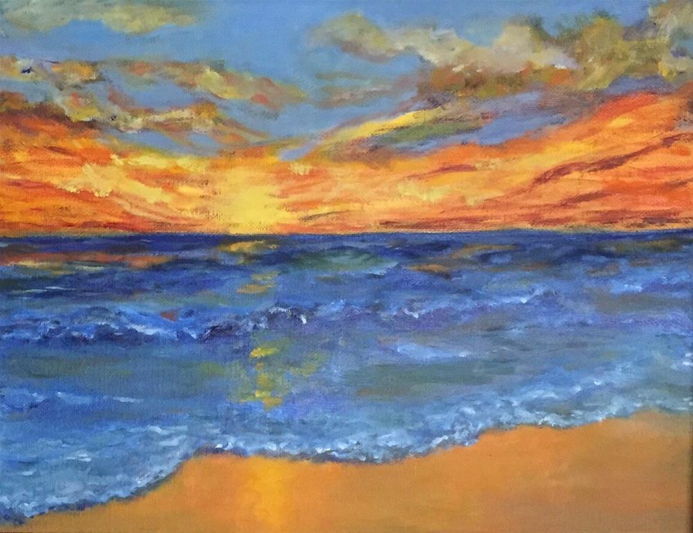 """Sanibel Island at Dusk"" original fine art by Bebe Combs"