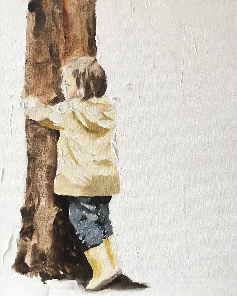 """Tree /hugger"" original fine art by James Coates"