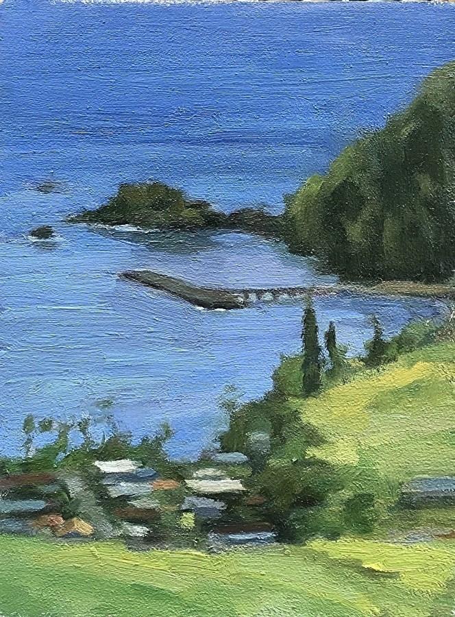 """Hana Bay (plein air)"" original fine art by Katya Minkina"