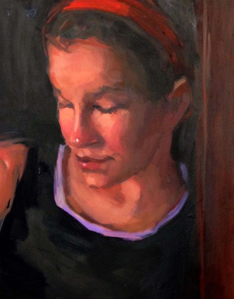 """Contemplative"" original fine art by Laurie Johnson Lepkowska"