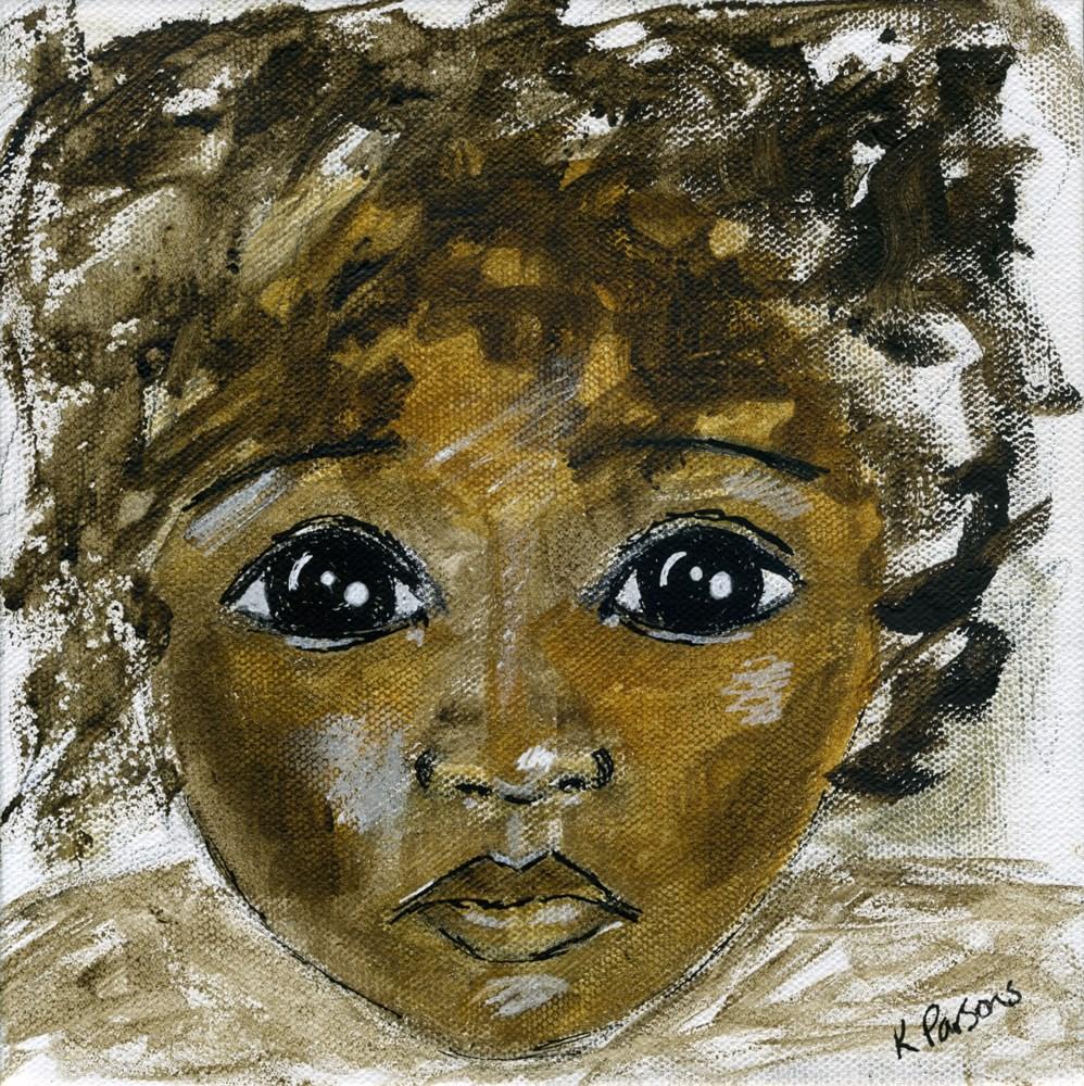 """Be Mindful"" original fine art by Kali Parsons"