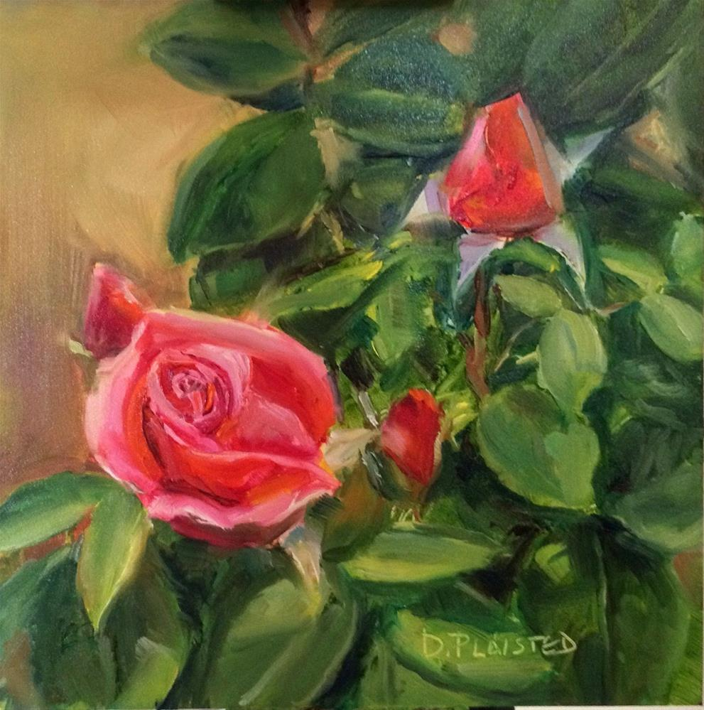 """""""Roses In France"""" original fine art by Diane Plaisted"""