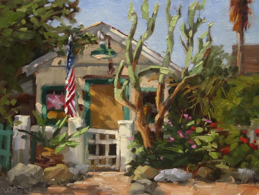 """""""Los Rios Cottage"""" original fine art by Karen Werner"""