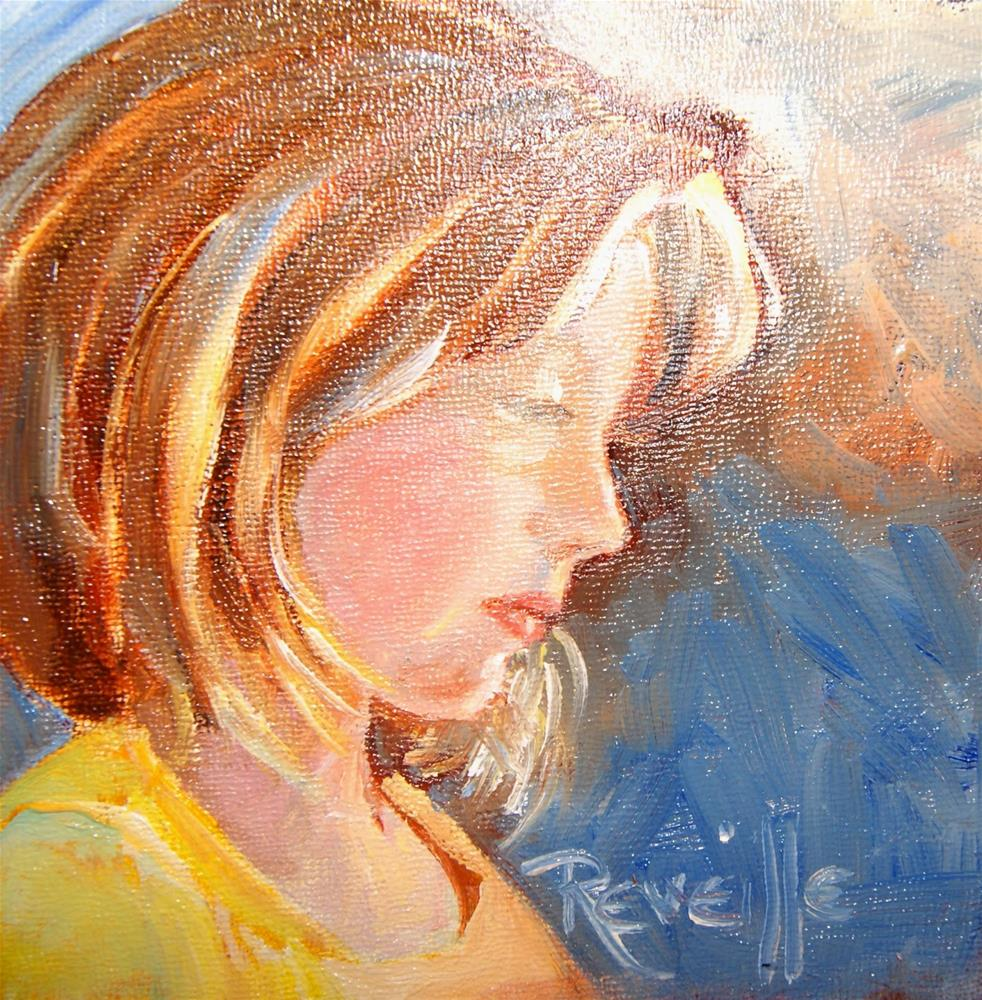 """""""Lauryn in canary and blue"""" original fine art by Reveille Kennedy"""