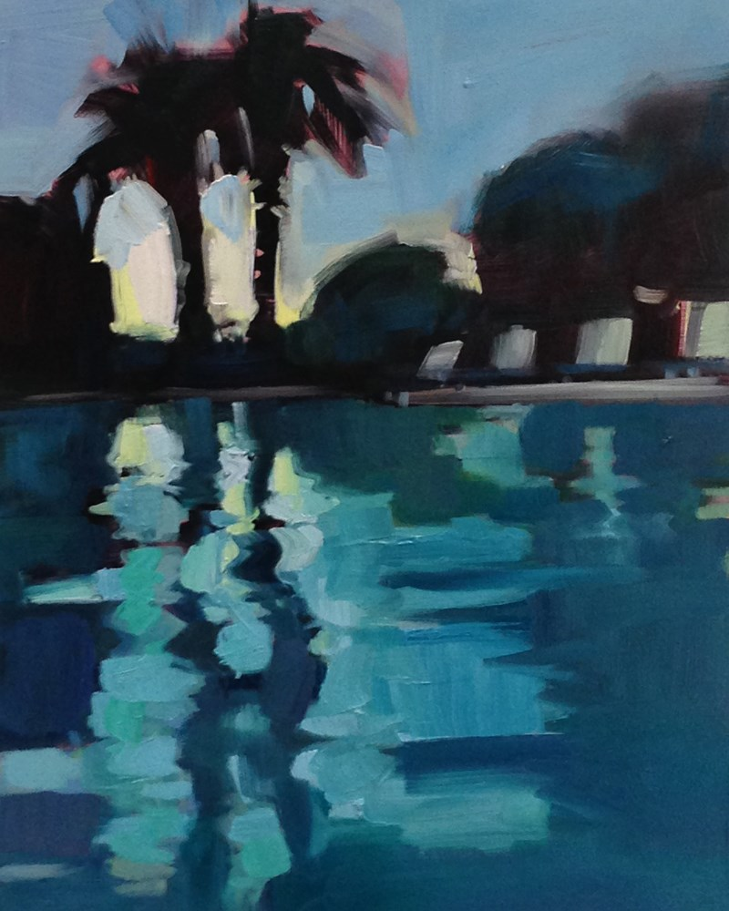 """I've Got The Swimming Pool Blues"" original fine art by Patti McNutt"