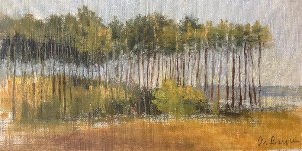 """""""Pine forest early morning"""" original fine art by Christine Bayle"""