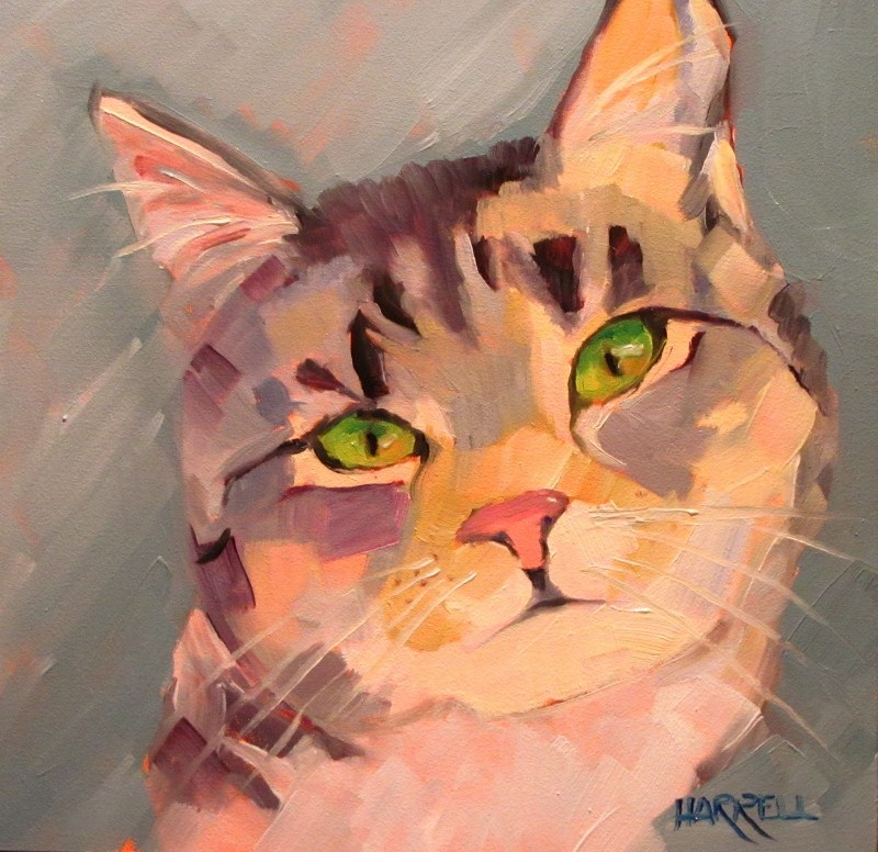 """""""You Can Tell Me..."""" original fine art by Sue Harrell"""
