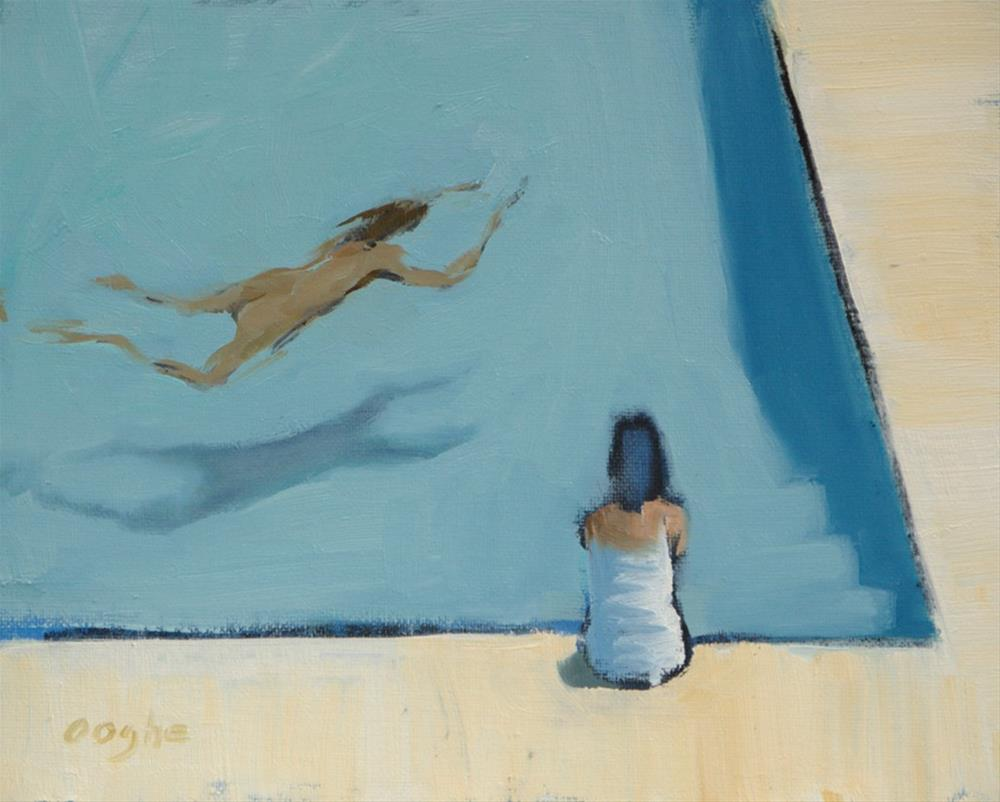 """""""Sitting by the Pool"""" original fine art by Angela Ooghe"""
