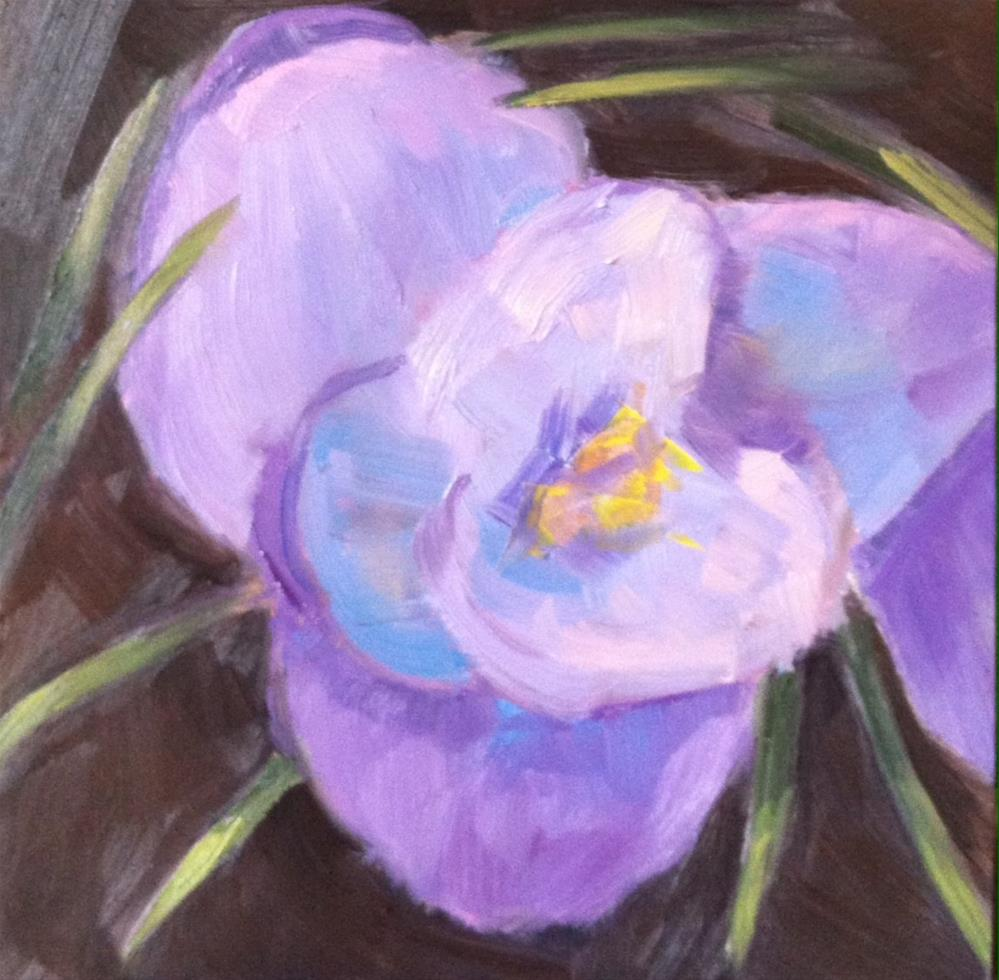 """First Crocus"" original fine art by Katharine March"
