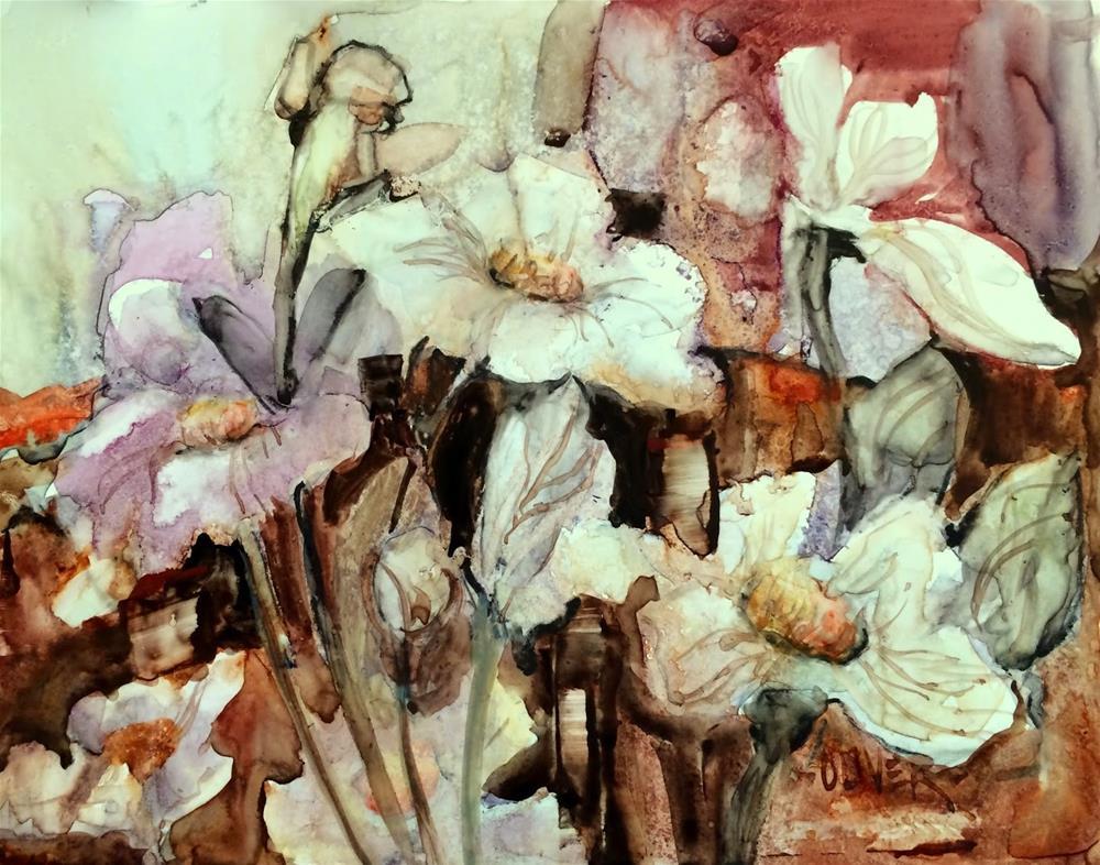"""""""Yupo Floral"""" original fine art by Julie Ford Oliver"""