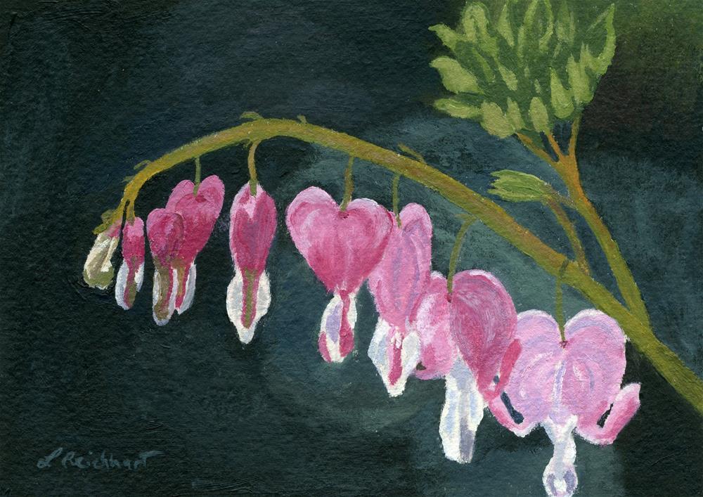 """Bleeding Heart"" original fine art by Lynne Reichhart"