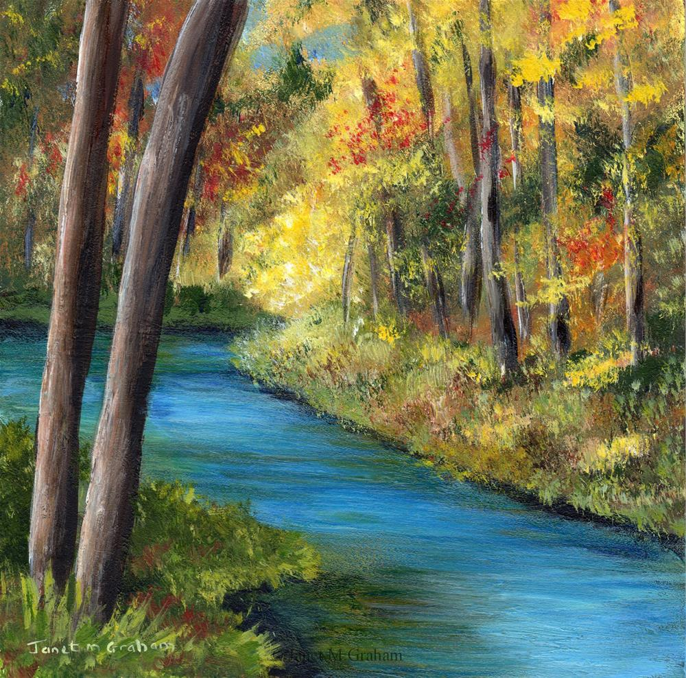 """Fall River"" original fine art by Janet Graham"