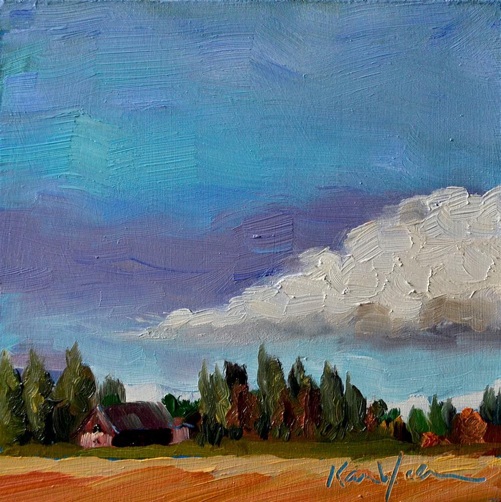 """""""Big Cloud"""" original fine art by Karen Weber"""