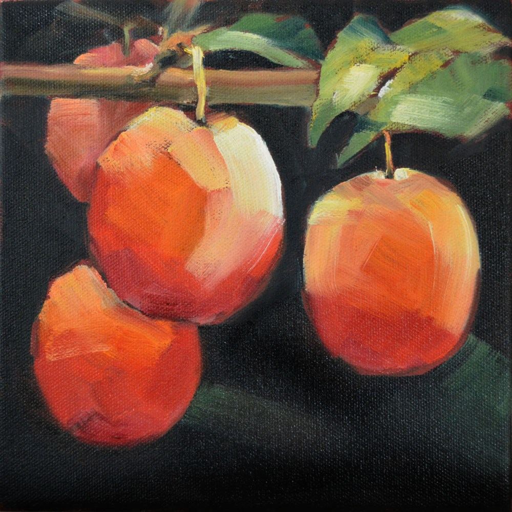 """Red Plums"" original fine art by Cheryl Wilson"