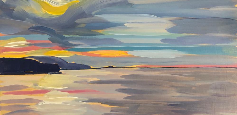 """Sunrise and the Pink Line"" original fine art by Kat Corrigan"