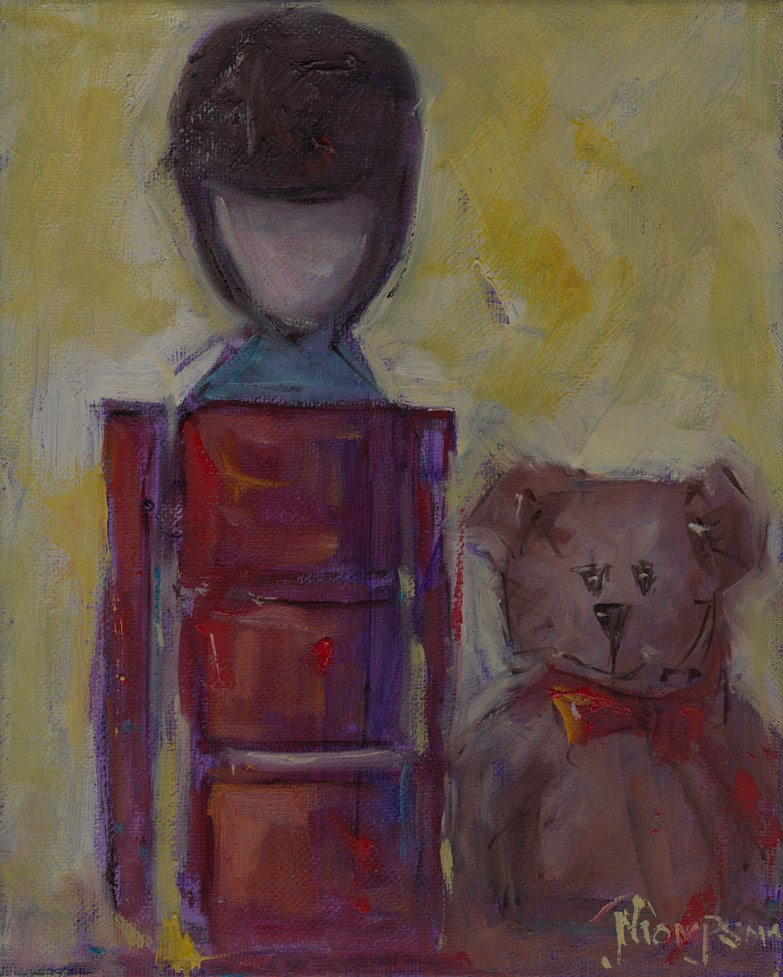 """""""Toy Soldier and Bear """" original fine art by Norma Thompson"""
