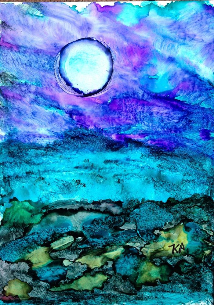 """""""Blue Moon"""" original fine art by Kris Alge"""
