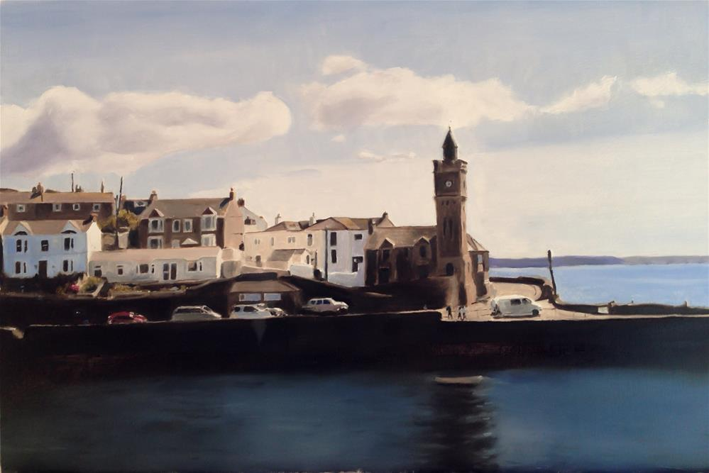 """Porthleven Harbour, Cornwall"" original fine art by James Coates"