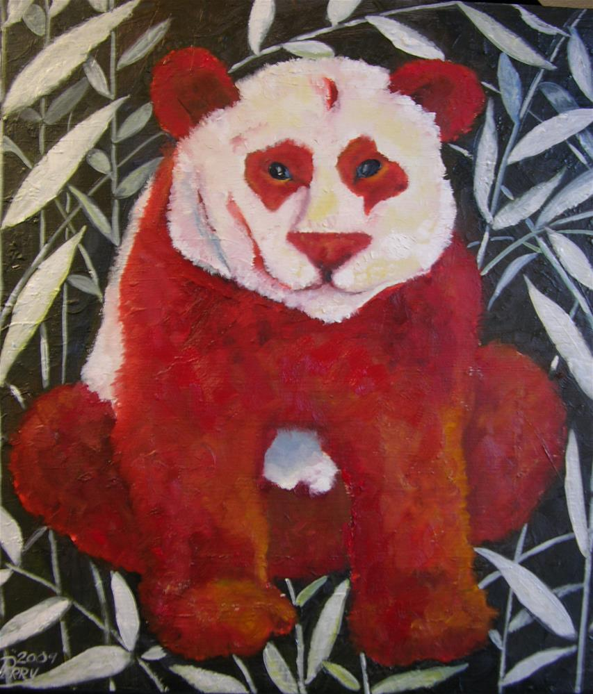 """Big Red"" original fine art by Nan Perry"