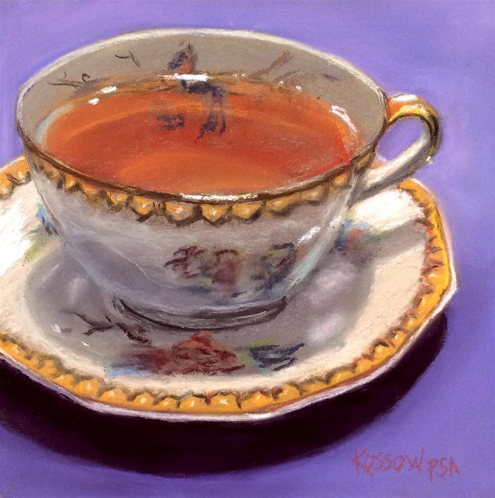 """Teabird of Paradise"" original fine art by Cristine Kossow"