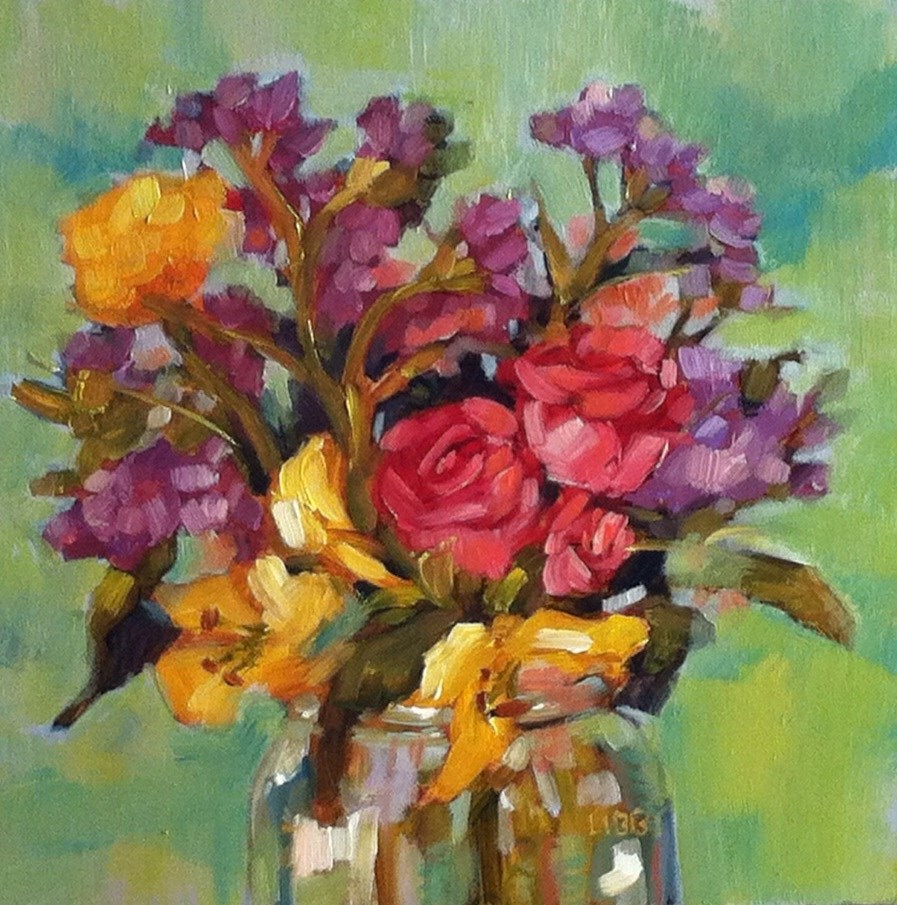 """""""A Rose is a Rose"""" original fine art by Libby Anderson"""